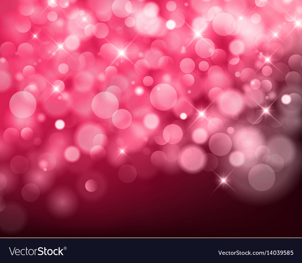 Light red bokeh background made from white lights