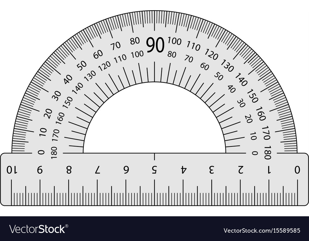 Measuring instrument is a protractor vector image