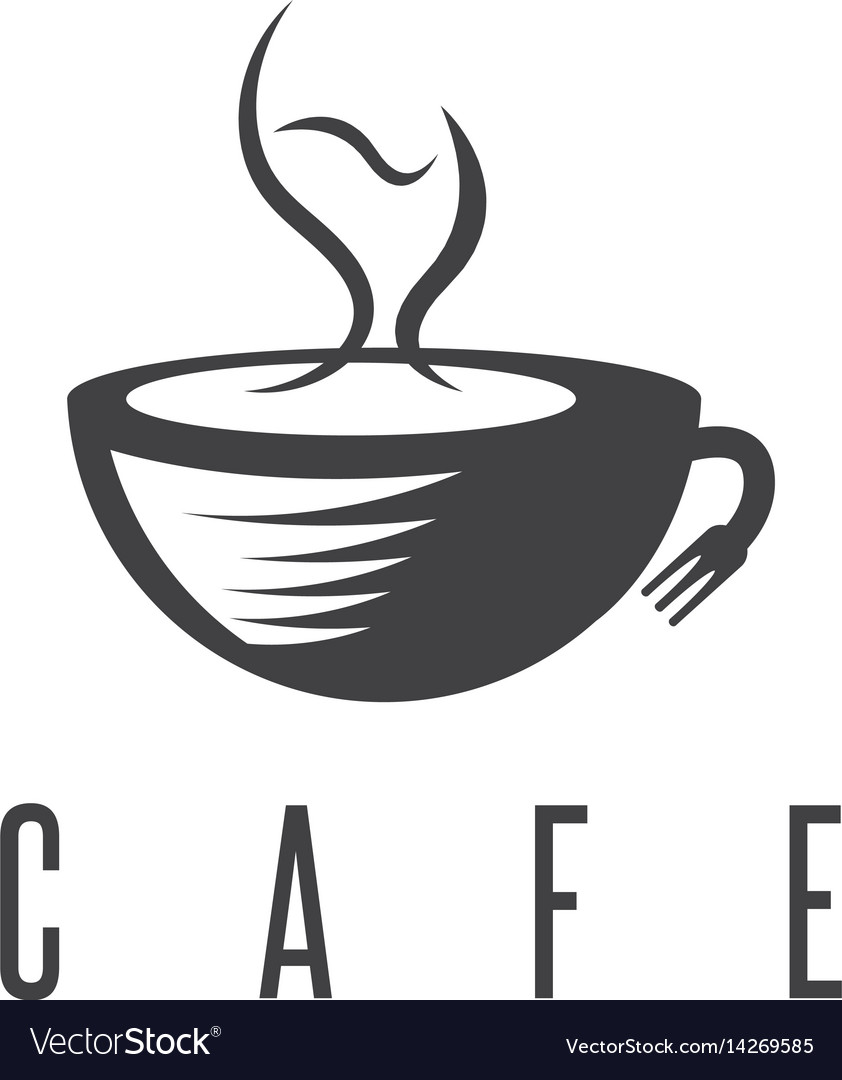 Restaurant or cafe concept with cup of coffee and