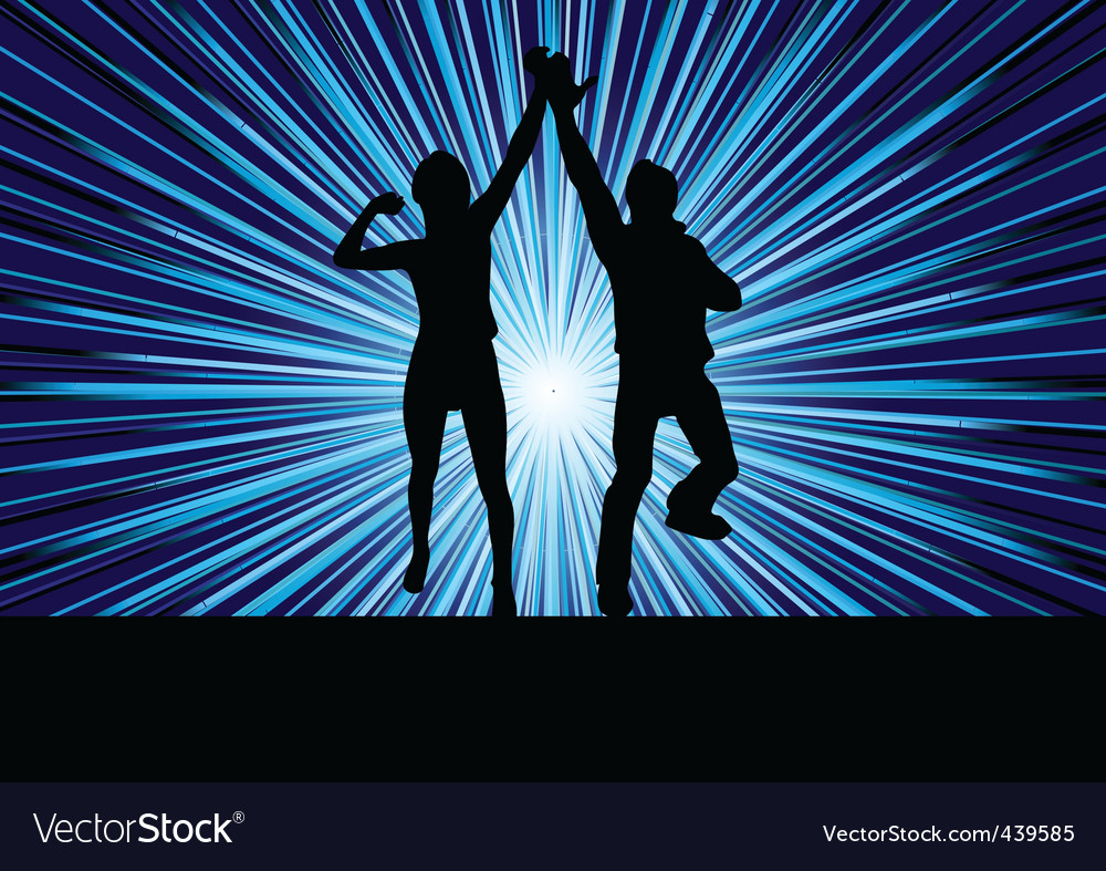 Vector couple on striped background