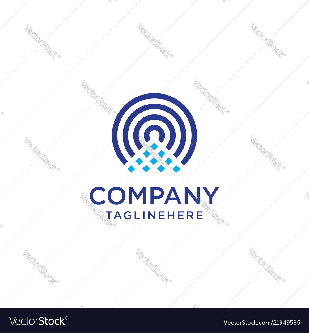Wireless icon and wifi logo isolated radio wave