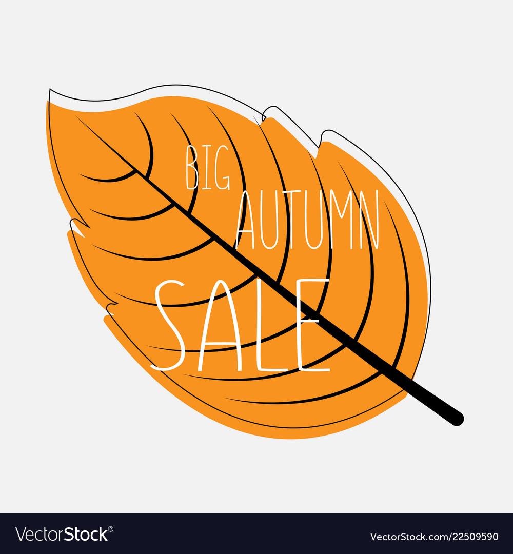 Autumn leaf sale banner autumn big sale
