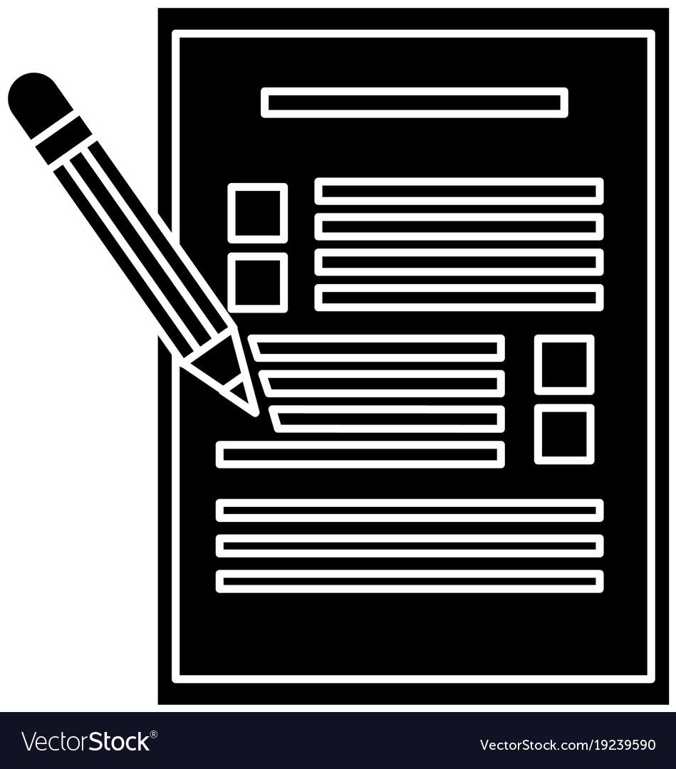 Checklist and pencil