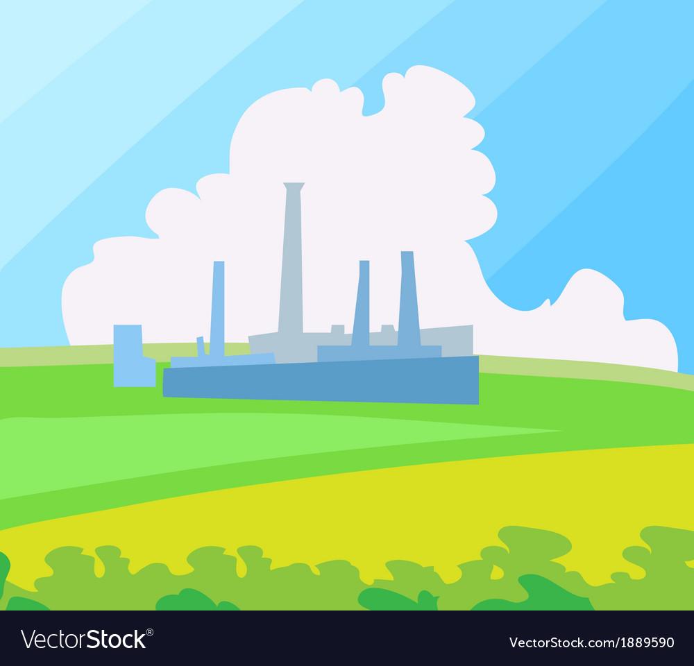 Factory landscape vector image