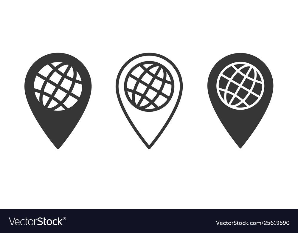 Globe icon for graphic and web design