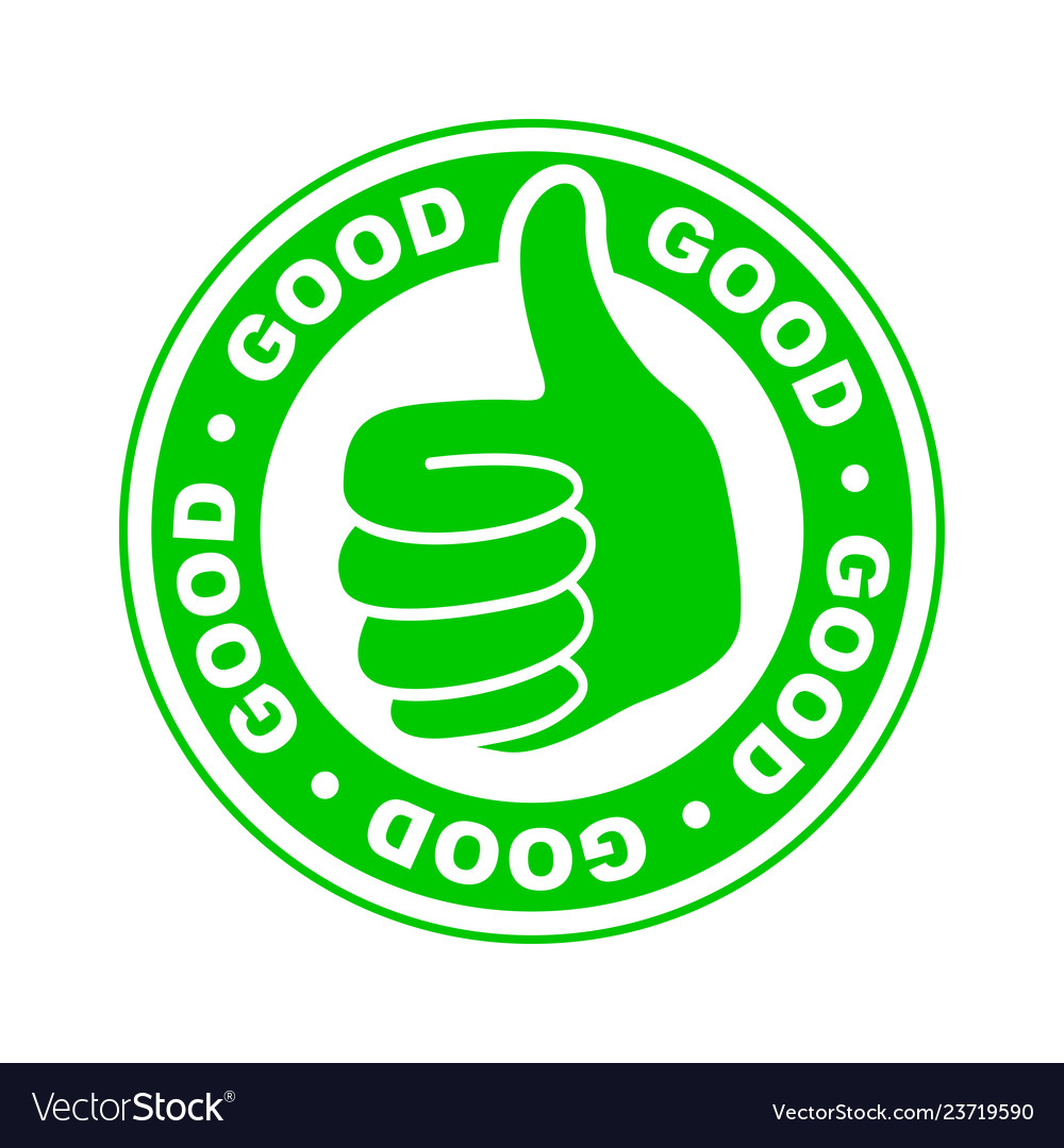 good thumbs up icon royalty free vector image vectorstock vectorstock