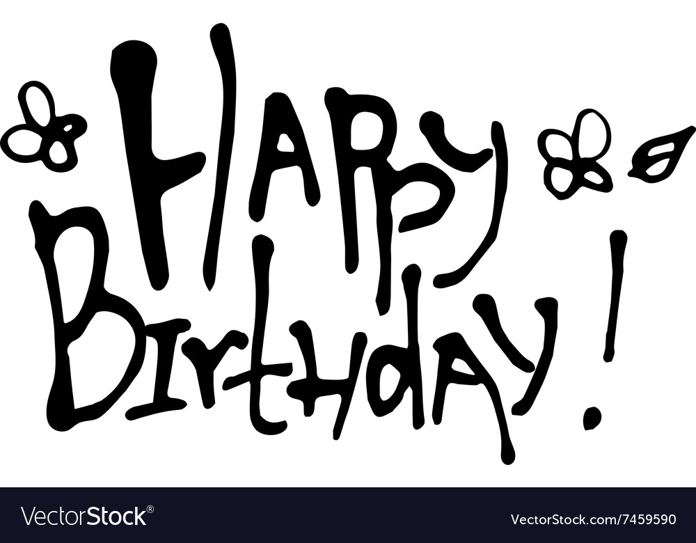 Happy Birthday calligraphy vector image