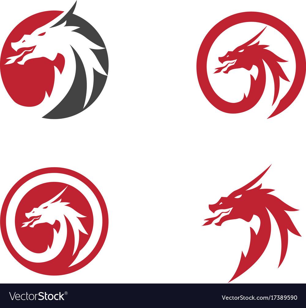head dragon logo template royalty free vector image