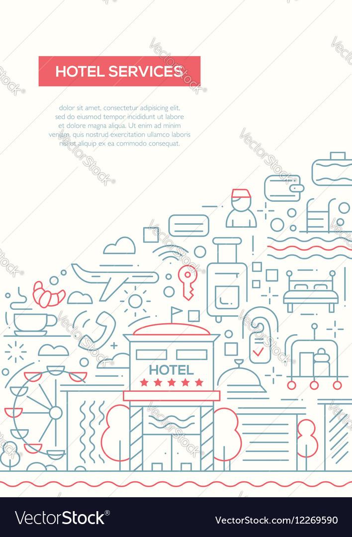 Hotel Services - line design brochure poster
