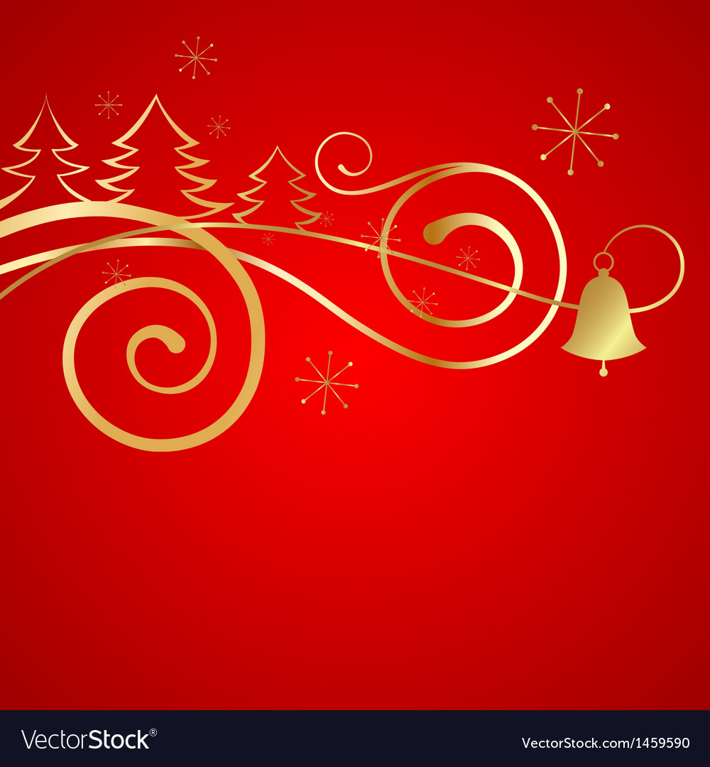 Red christmas banner vector image