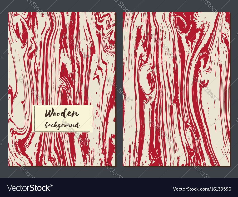 Wooden texture background card templates