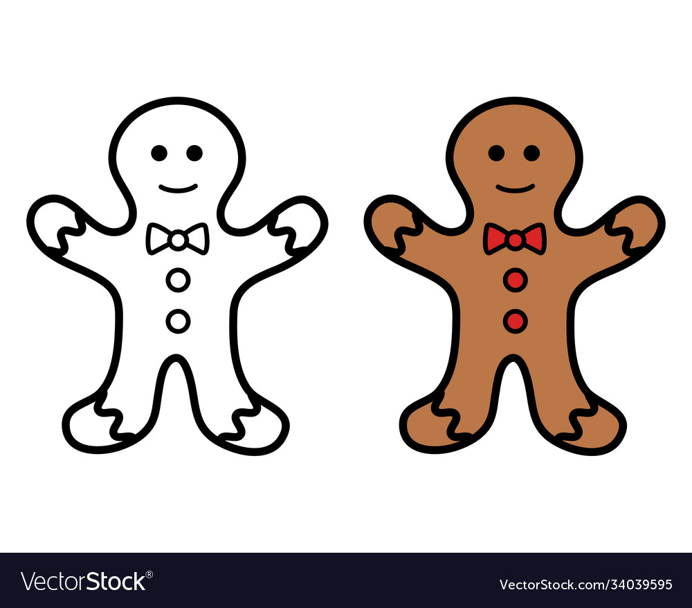 Christmas cookie icon on white background