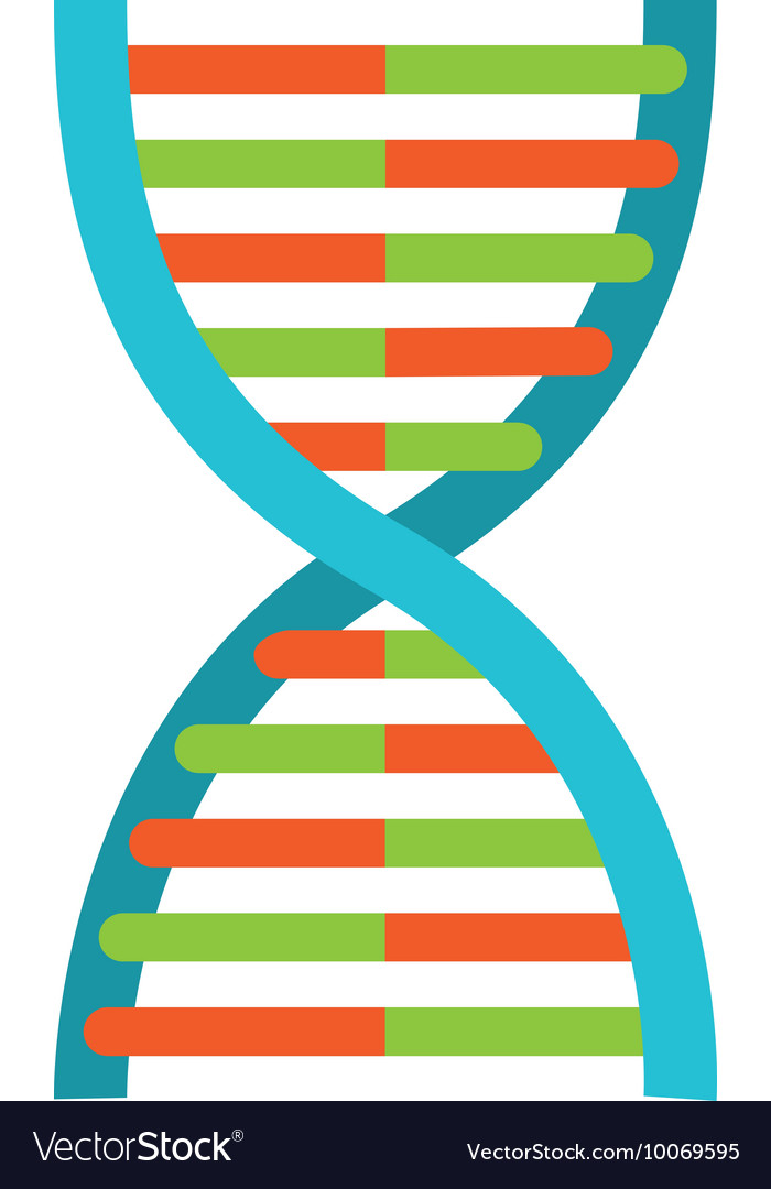 Dna molecule particle icon vector image