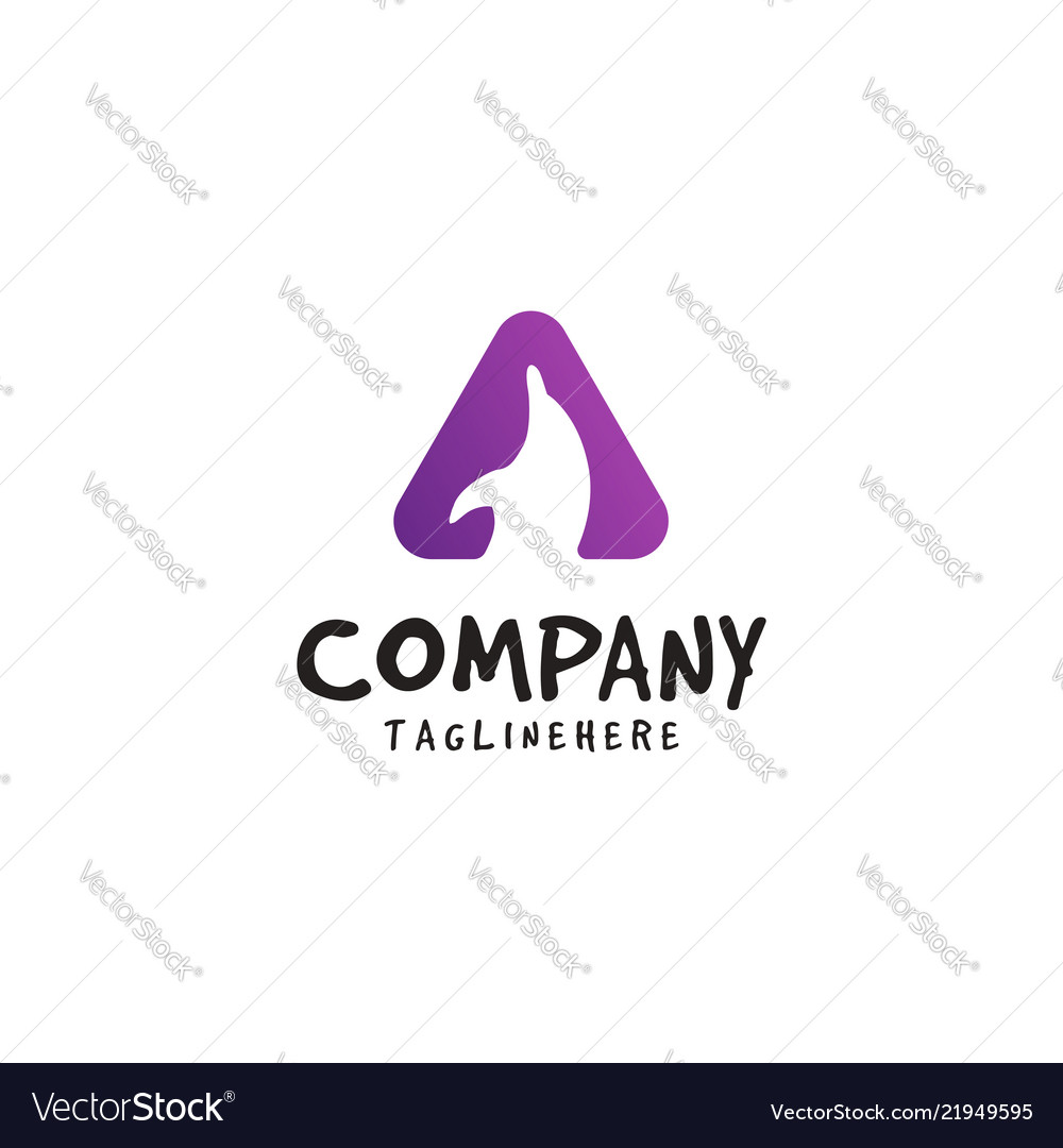 Dolphin logo with triangle shapes