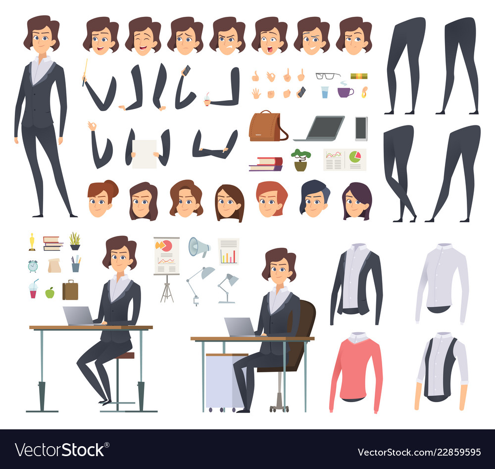 Female business animation director office manager