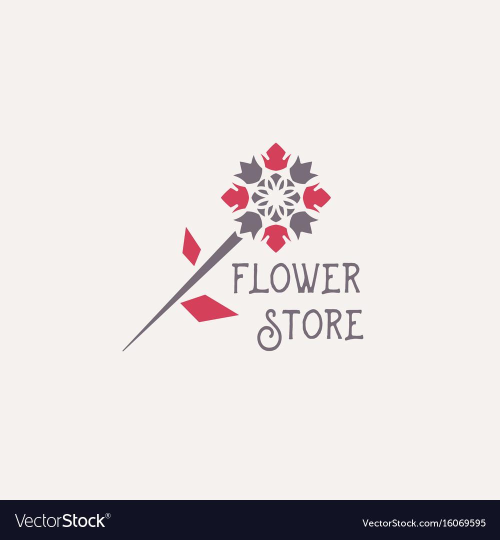 Flower store emblem