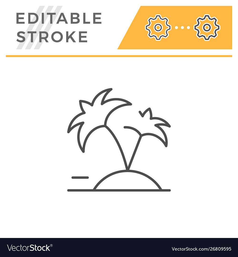 Vacation editable stroke line icon