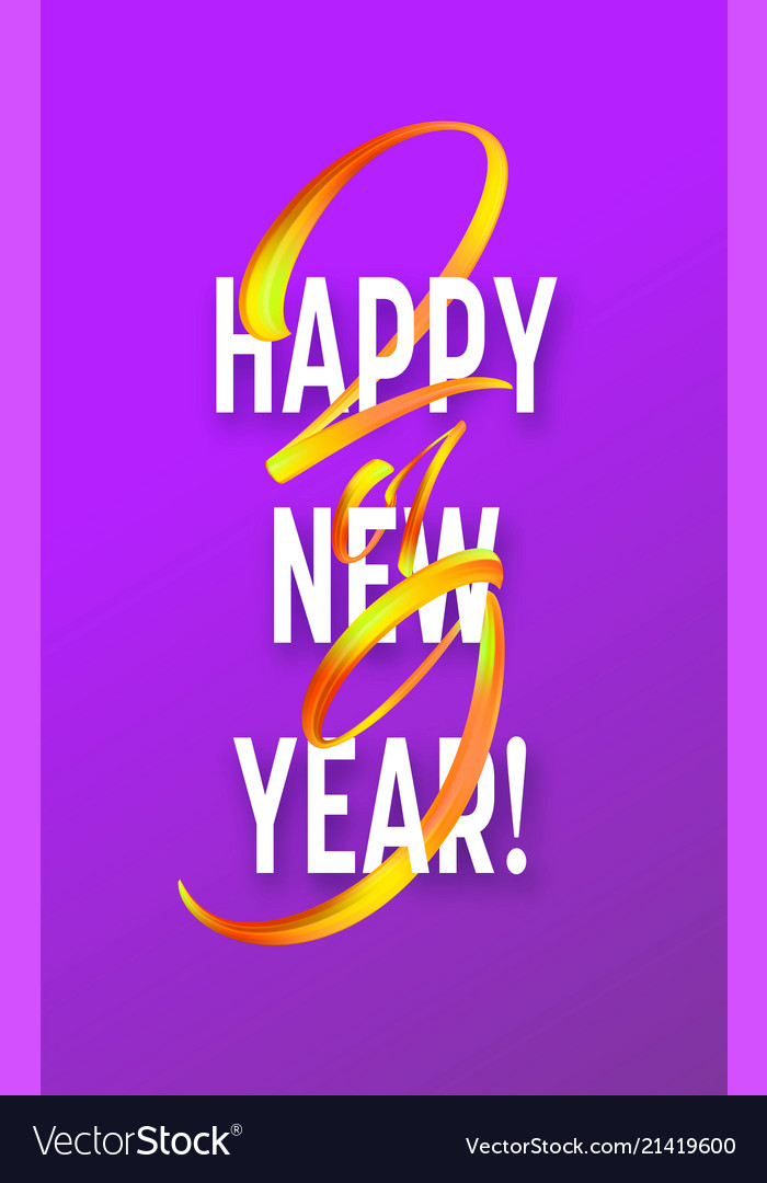 2019 new year on the background of a colorful