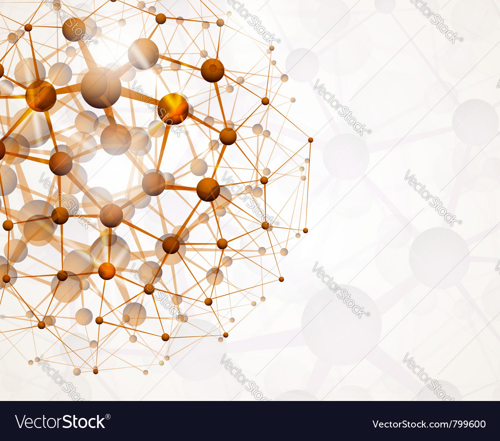 Abstract molecular structure vector image