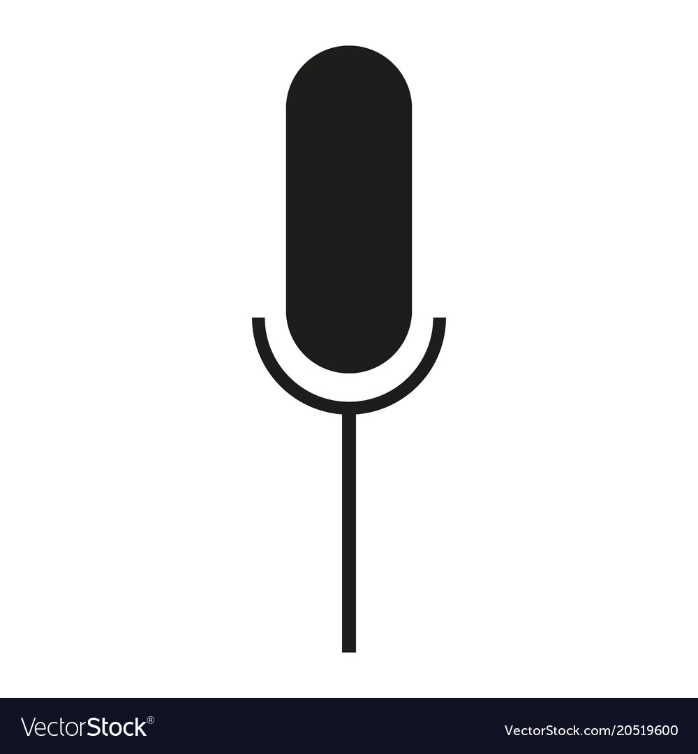 Black Icon Microphone Symbol Royalty Free Vector Image
