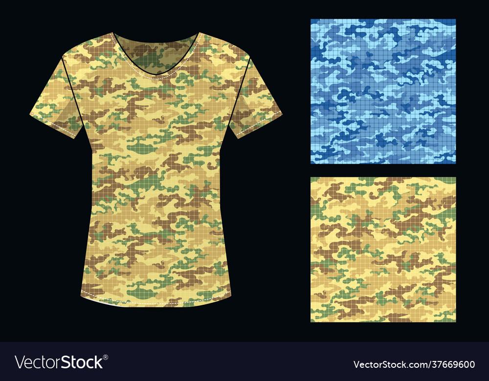 Camouflage pattern shirt template