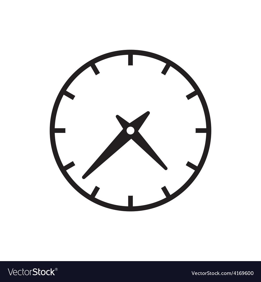 clock icon royalty free vector image vectorstock rh vectorstock com clockwork icon vector time clock icon vector