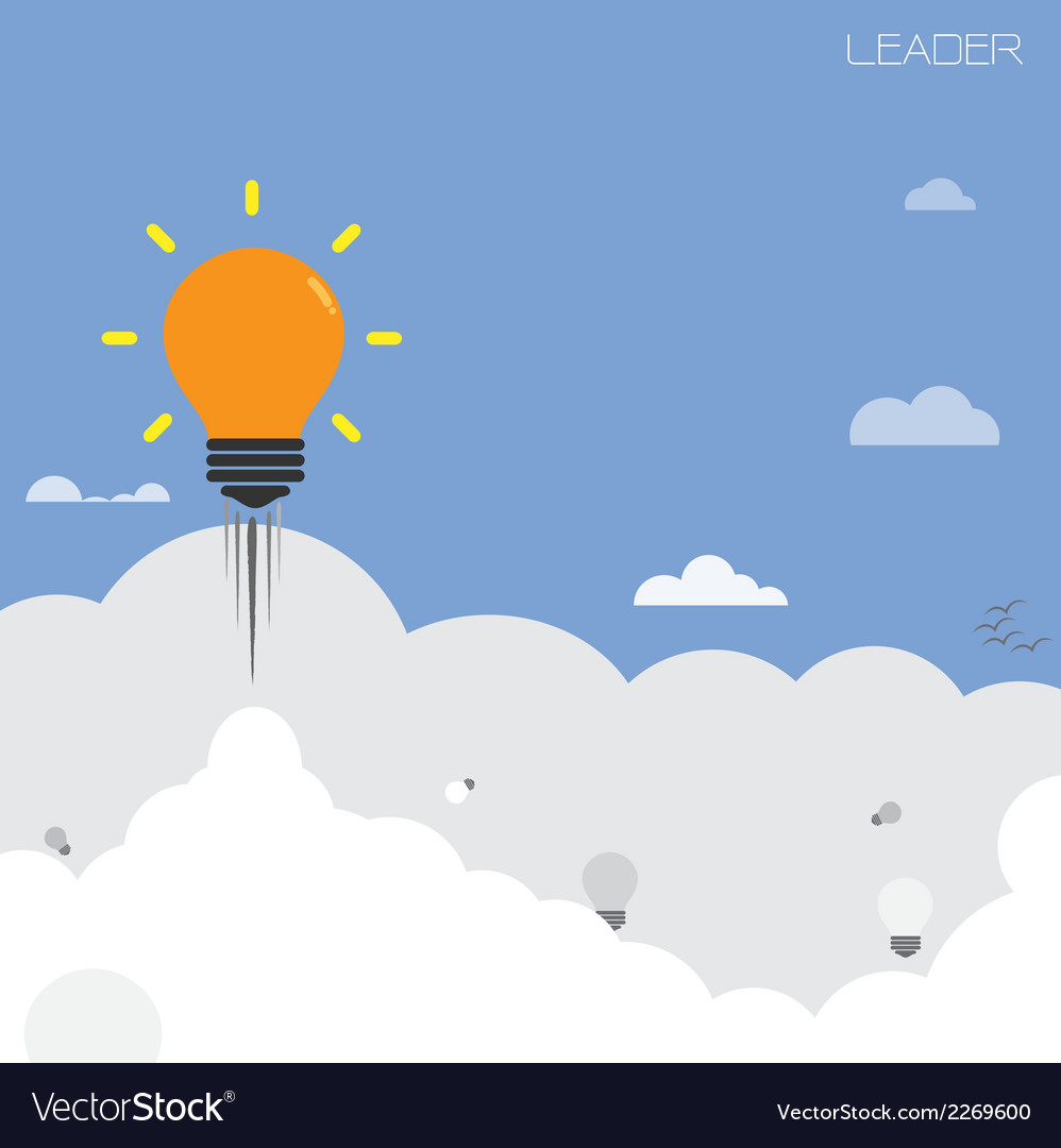 Creative light bulb with blue sky background
