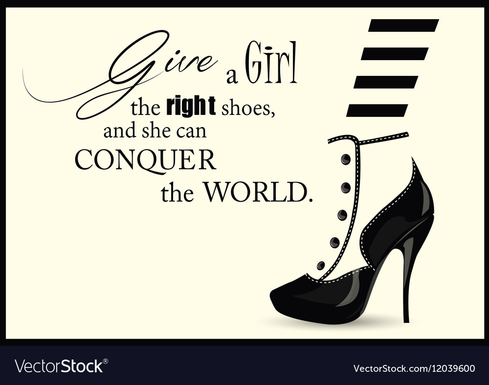 Fashion Woman shoe with quotes