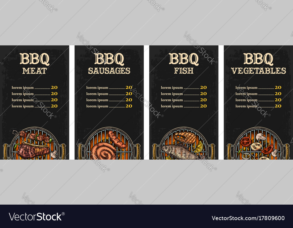 menu template barbecue grill royalty free vector image