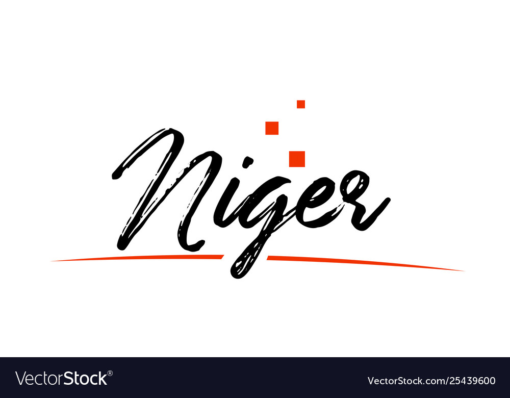 Niger country typography word text for logo icon