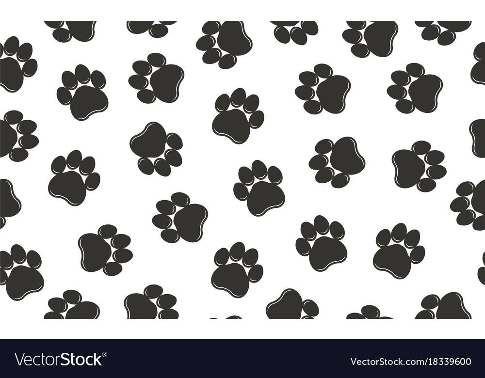 Paw prints pattern