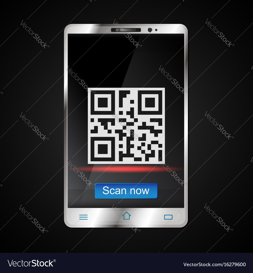 Scanning of qr code on the smartphone