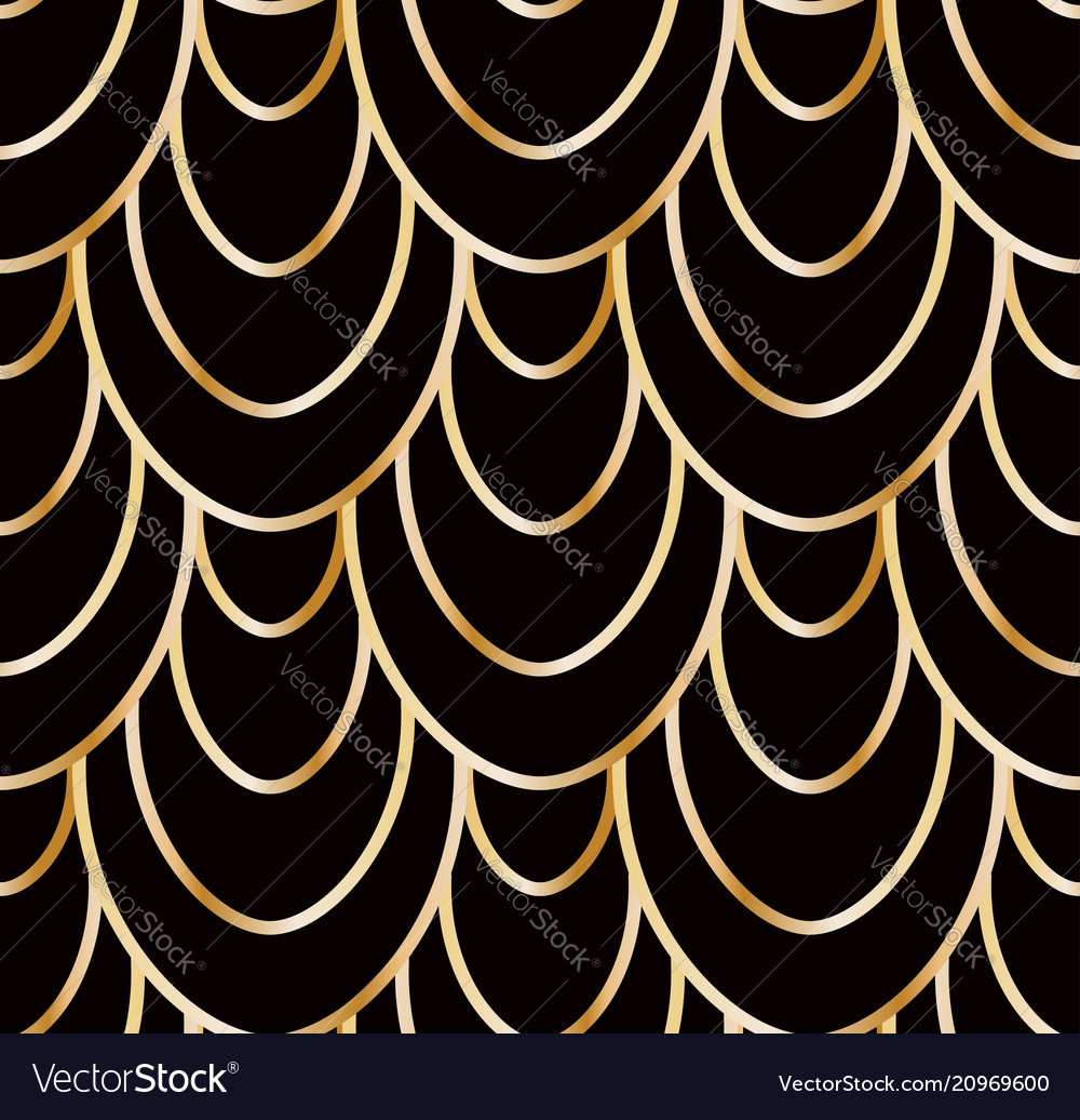 Seamless golden wire scales pattern