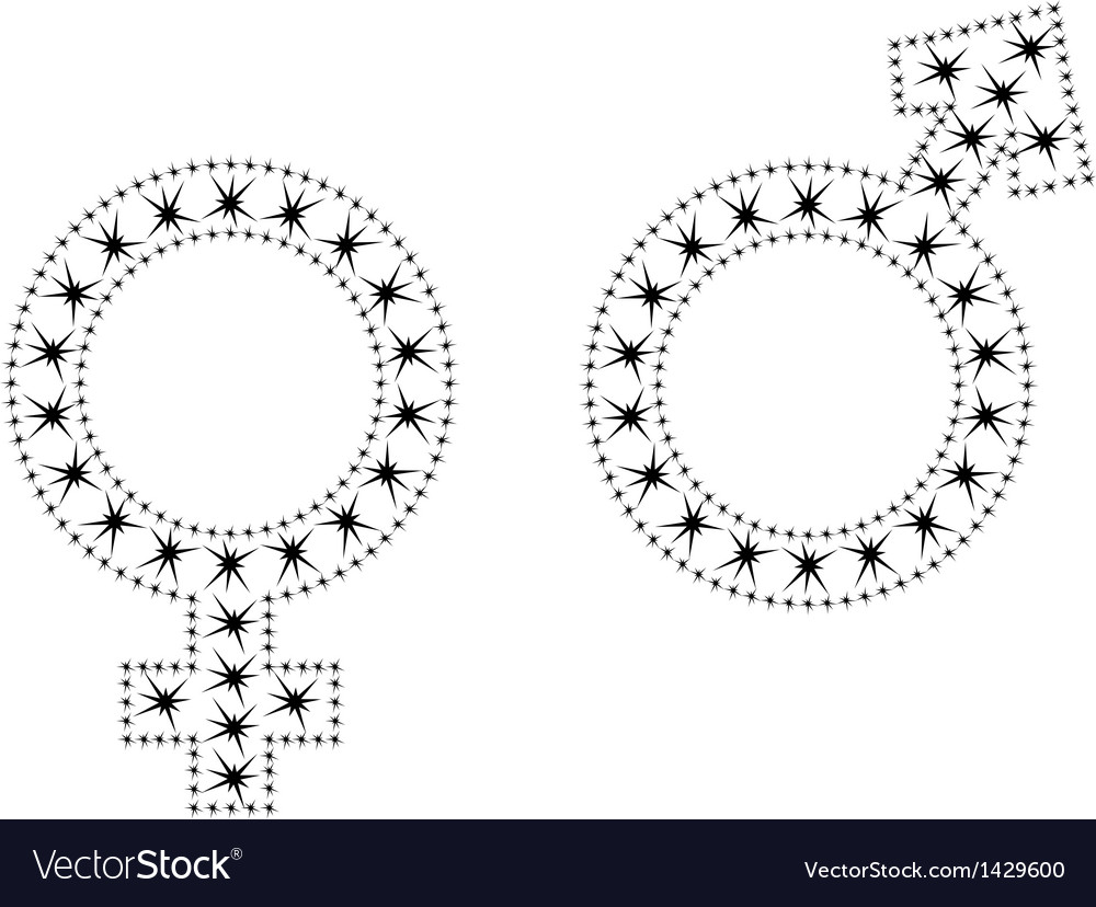 Sign of men and women vector image