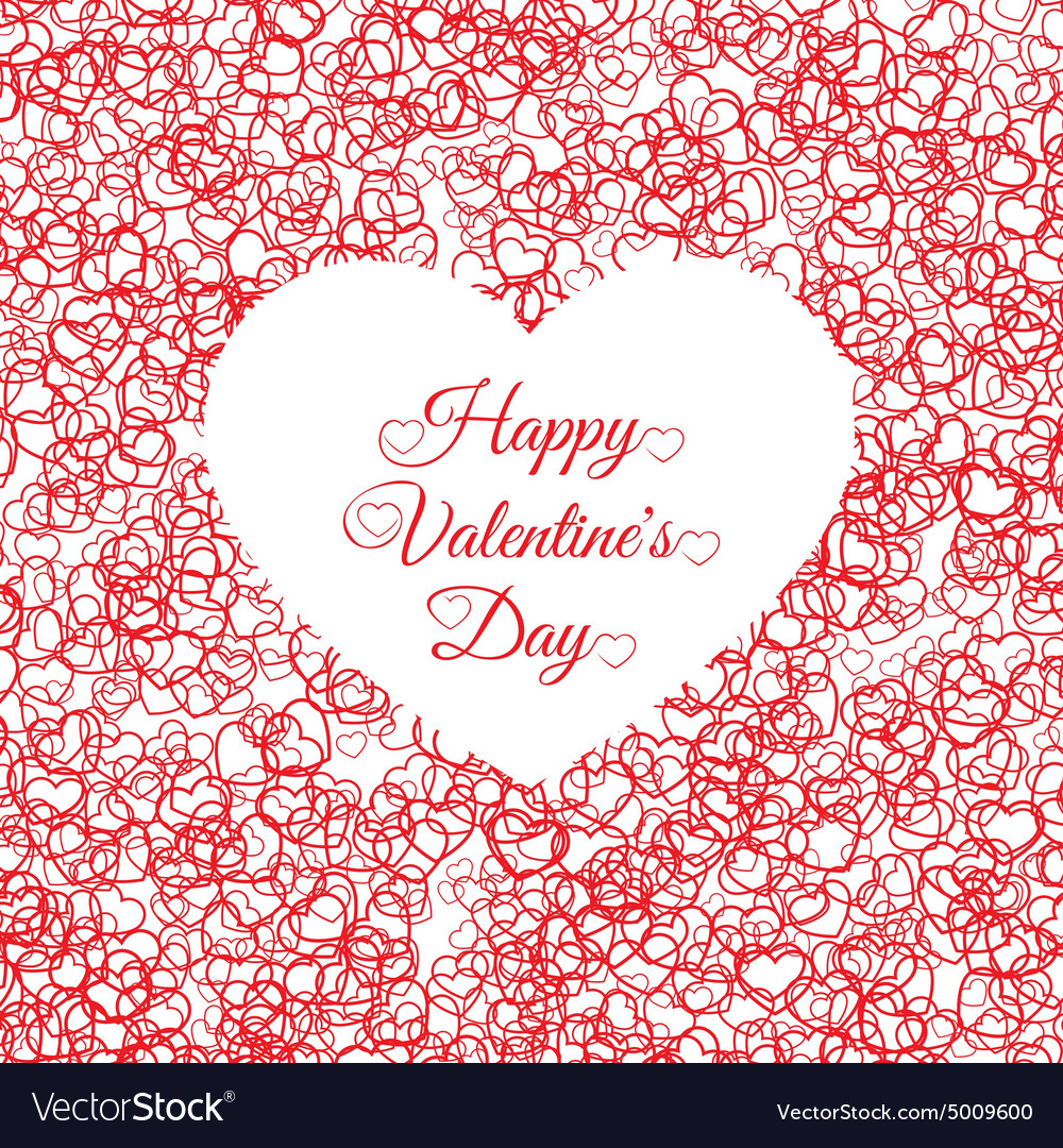 Valentines day vintage lettering background with
