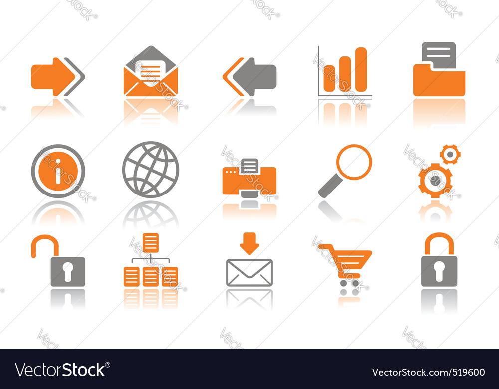 Web and internet icons oran