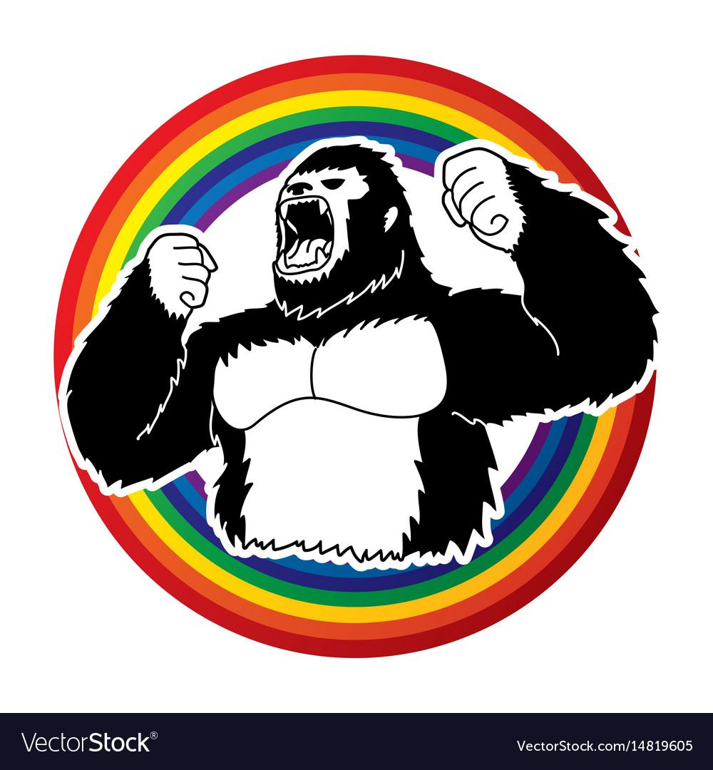Angry king kong big gorilla
