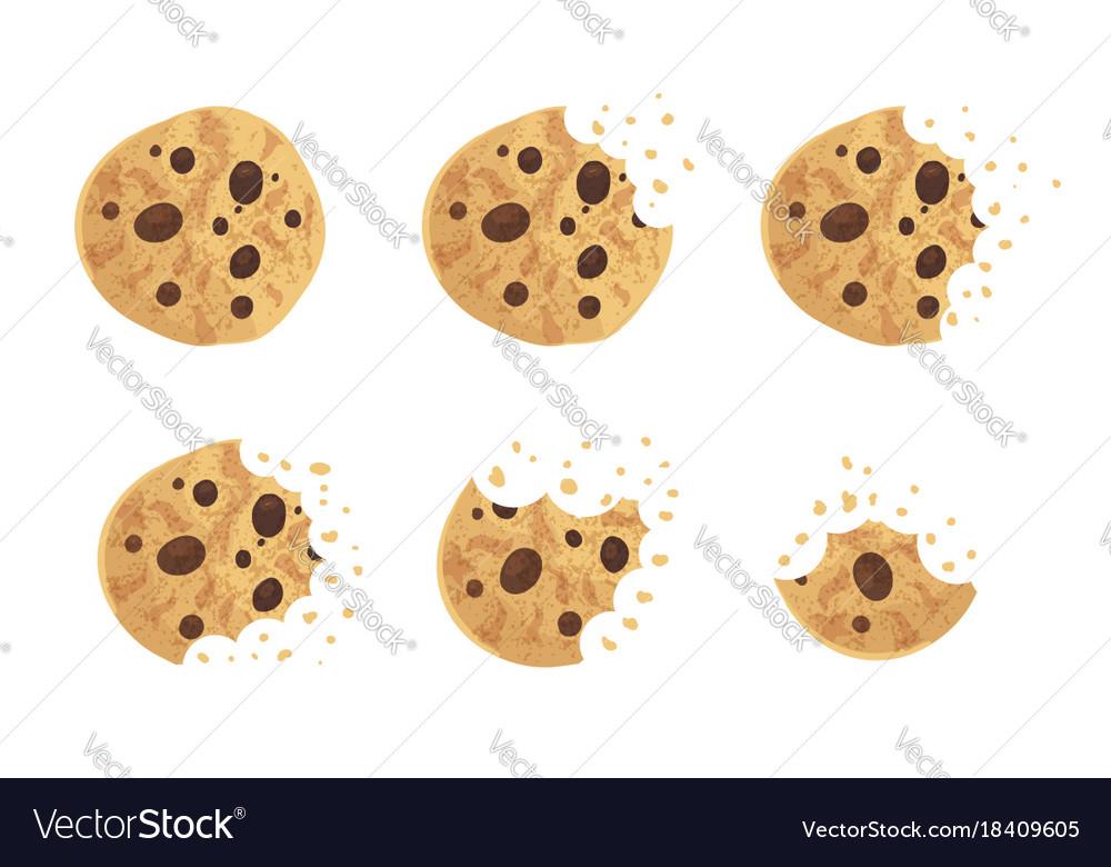 Bitten chip cookie set