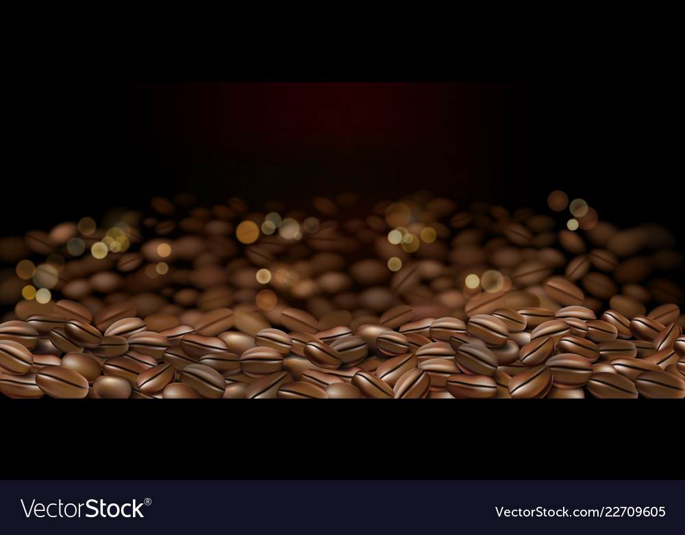 Black arabica coffee beans ads 3d abstract