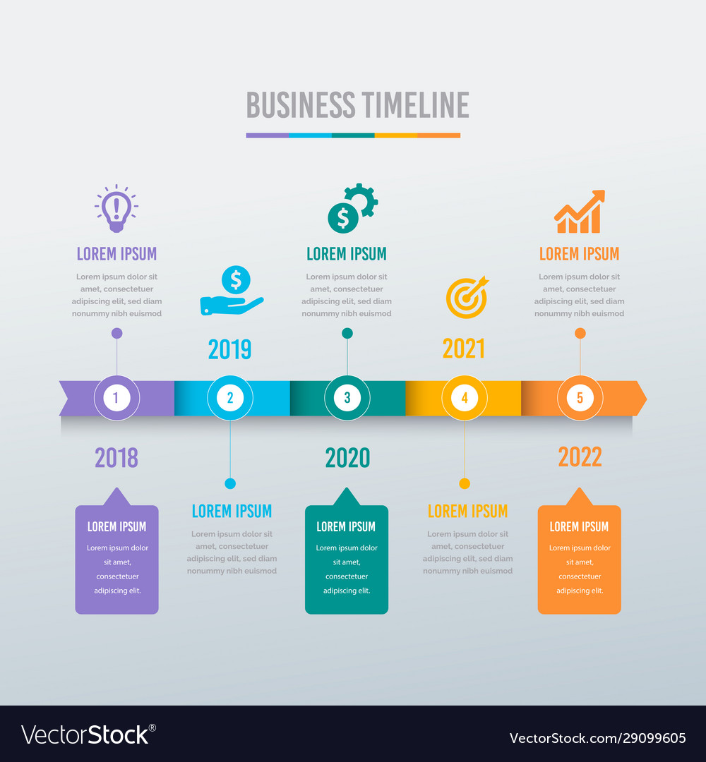 Business timeline and diagram template