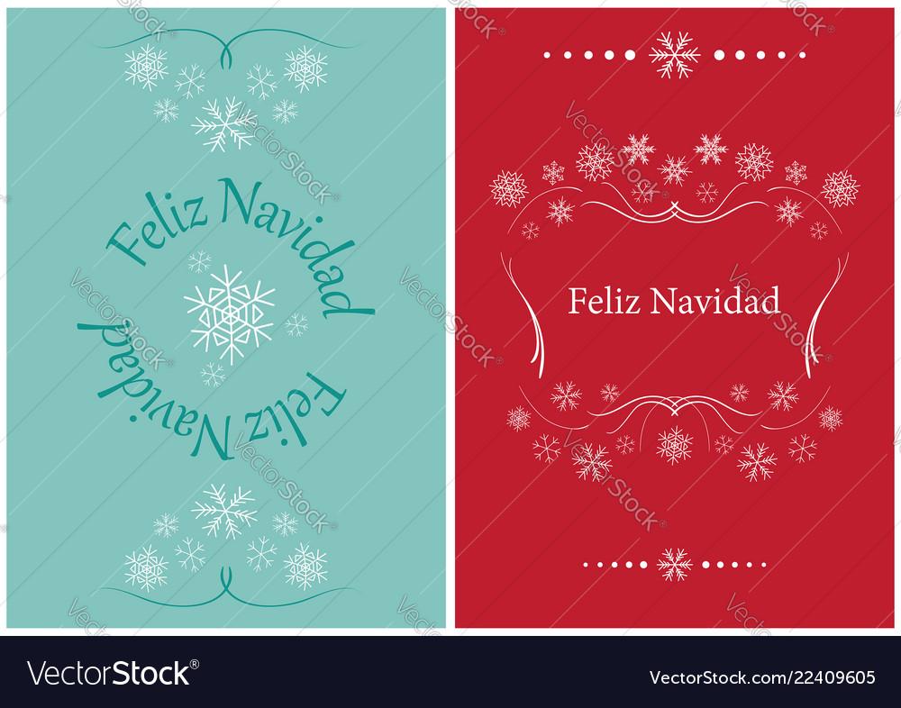 Greeting Cards For Christmas Feliz Navidad Vector Image