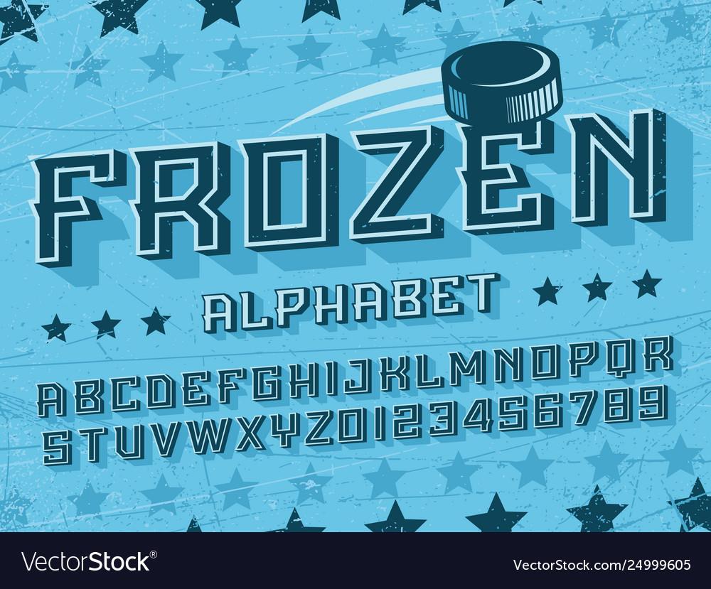 Modern professional 3d alphabet frozen