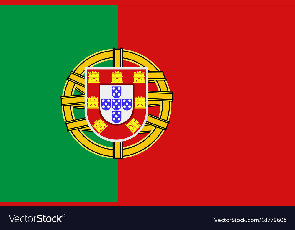 National symbol of portugal flag royalty free vector image - Dessin drapeau portugal ...