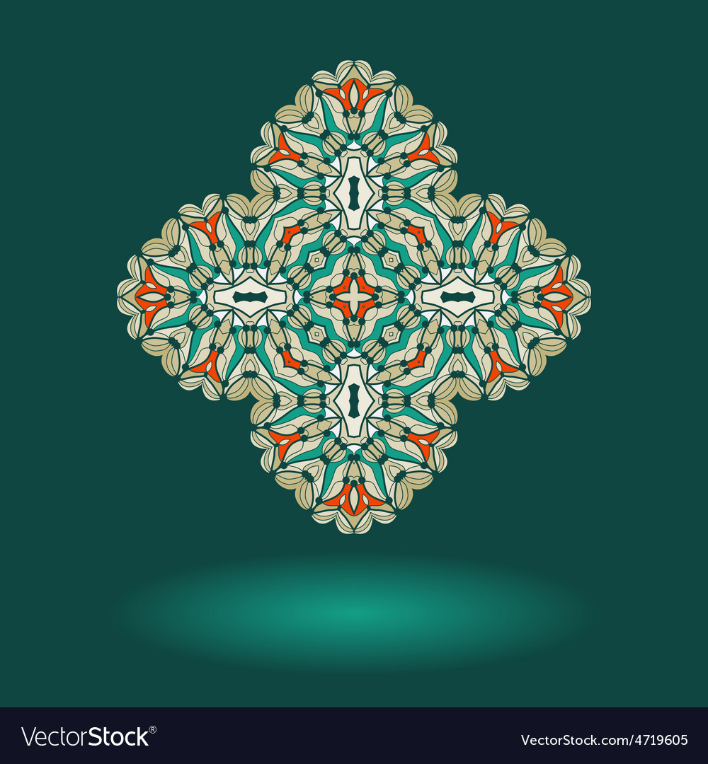 Oriental ornamental design Tribal indian motif vector image