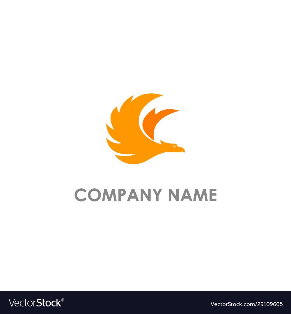 Phoenix bird fly logo