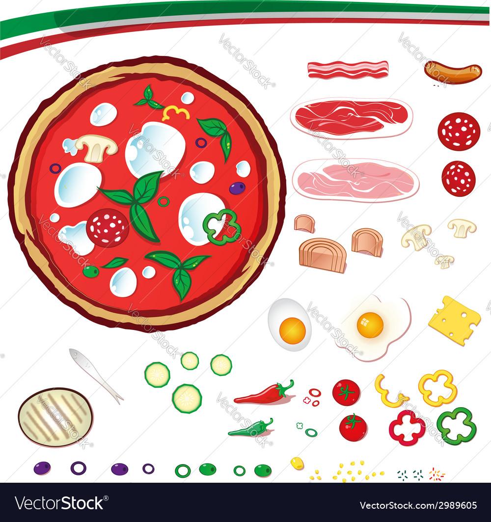 Pizza design elements