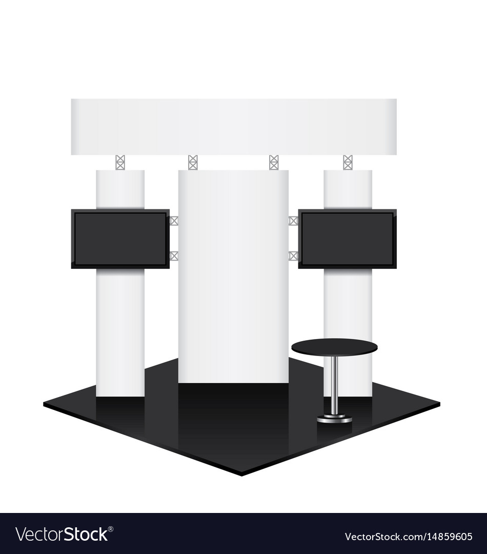 Exhibition Stand Design Brief Pdf : Trade conference exhibition stand royalty free vector image