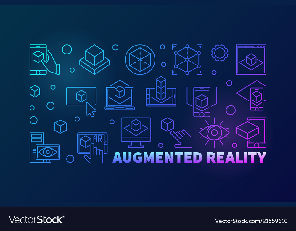 Augmented reality bright horizontal outline