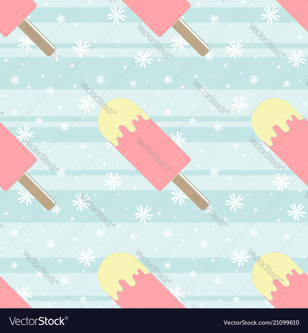 Color seamless pattern of delicious melting ice