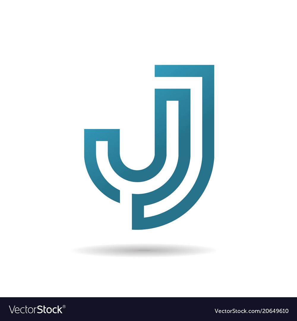 Creative letter j logo